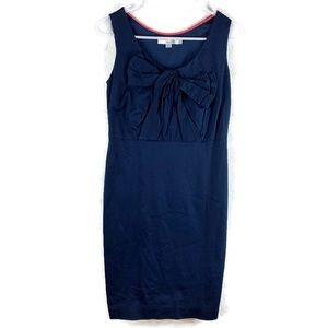 Boden Navy Blue Bow Sleeveless Sheath Dress